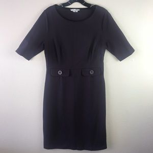 Boden Eggplant Purple Cotton Blend Dress Size 10
